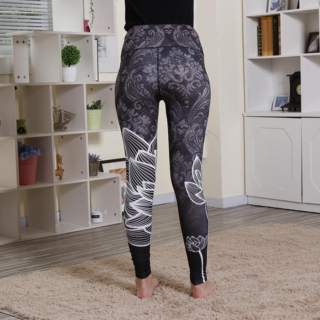 Pantalones Yoga Mujeres, ❤️Xinantime Polainas de fitness de yoga de cintura alta de mujer Running Gym Stretch Pants Pantalones: Amazon.es: Ropa y ...