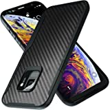 Kitoo Designed for Samsung Galaxy S9 Case, Carbon Fiber Pattern, 10ft. Drop Tested, Wireless Charging - Black