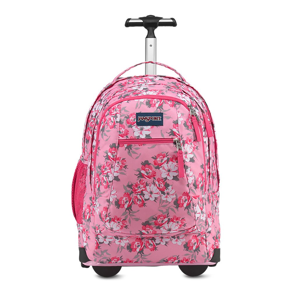 d34de49da5a3 Galleon - JanSport Driver 8 Core Series Wheeled Backpack Prism Pink Pretty  Posey
