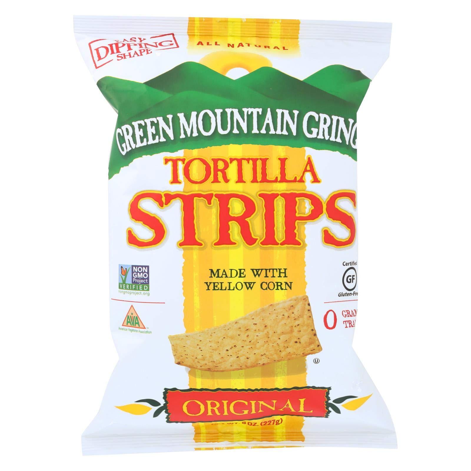 Green Mountain Gringo Tortilla Strips - Original - Case of 12 - 8 oz.