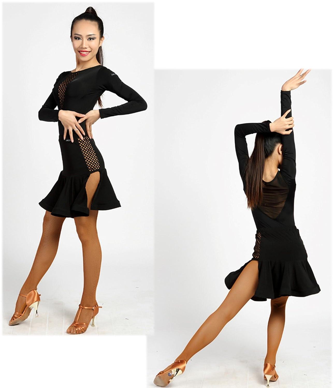 SCGGINTTANZ G1021 Professionnel de Danse de Salon Latine Moderne Le Justaucorps de la Conception de Couture /à Grandes Mailles
