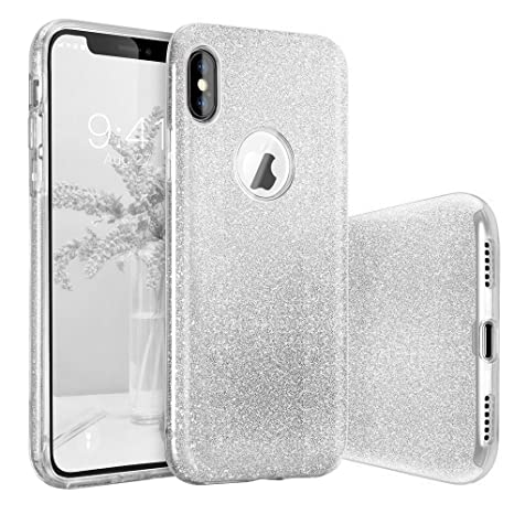 custodia iphone x argento