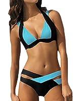 Auxo Donne Bikini Sportivo Costumi Da Bagno Granti Swimwear Fasciatura Estati Eleganti