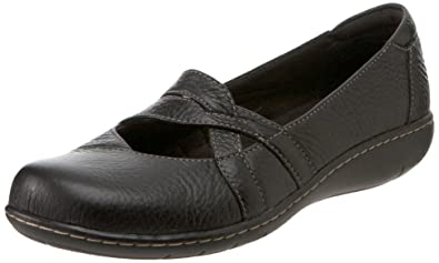 52a4a9aa886 Clarks Sixty Cruise Womens SZ 8.5 Black X Wide Flats Mary Janes ...