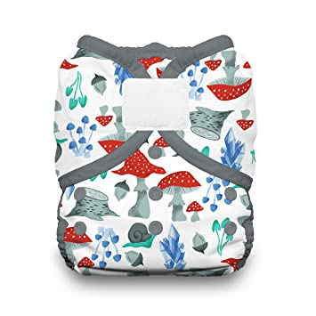 Aqua Thirsties Diaper Cover with Hook and Loop Small