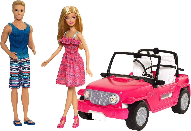 Amazon.es: Barbie - Muñeco Ken y muñeca Barbie con su coche de ...