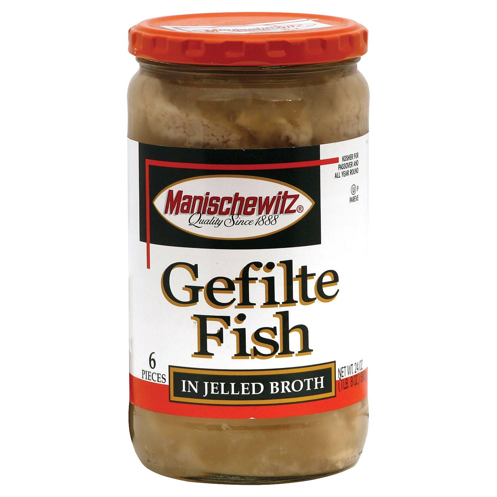Manischewitz Gelfite Fish in Jelled Broth - Case of 12 - 24 oz. by Manischewitz