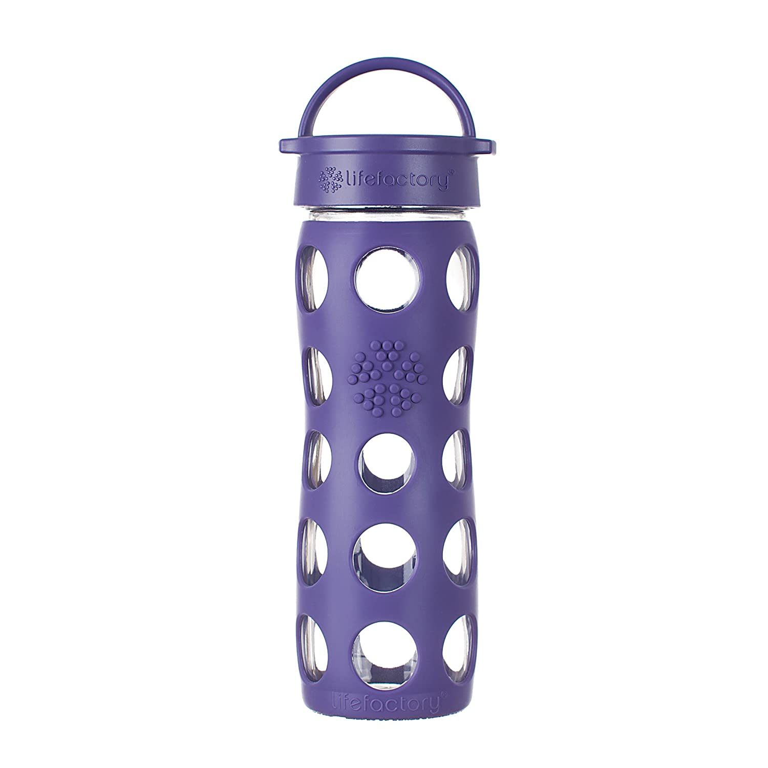 Lifefactory 13826 - Botella de biberón de vidrio, 470 ml, color morado: Amazon.es: Hogar