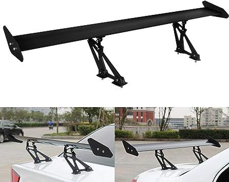 Adjustable 53/'/' GT Rear Car Trunk Brackets Spoiler Wing Aluminum Racing Black