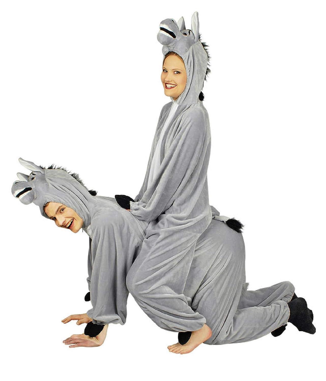 Narrenkiste K332538-50-54 grau Damen Esel Herren Esel Damen Kostüm-Overall Gr.50-54 59501f
