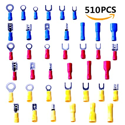 amazon com wire connectors kit wire crimp terminals electrical rh amazon com electrical wiring connectors automotive terminal connectors automotive