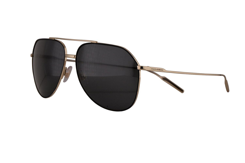 e274d31d5d9 Dolce   Gabbana DG2166 Sunglasses Black Pale Gold w Grey Lens 130587 DG  2166  Amazon.co.uk  Clothing