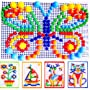 Kids Puzzle Peg Board With 296Pegs Creative Educational Toys For Children Gift