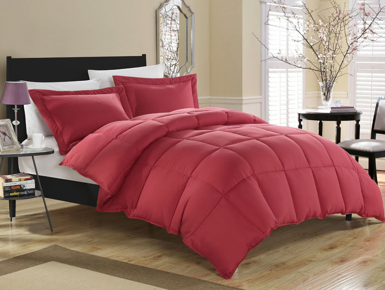 plain caroline store red cover product duvet queen photo mitchells online