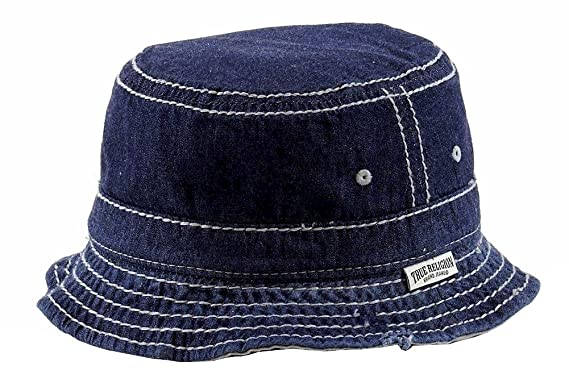 c74db8ef1a1 Amazon.com  True Religion Dark Indigo Bucket Hat (M)  Clothing