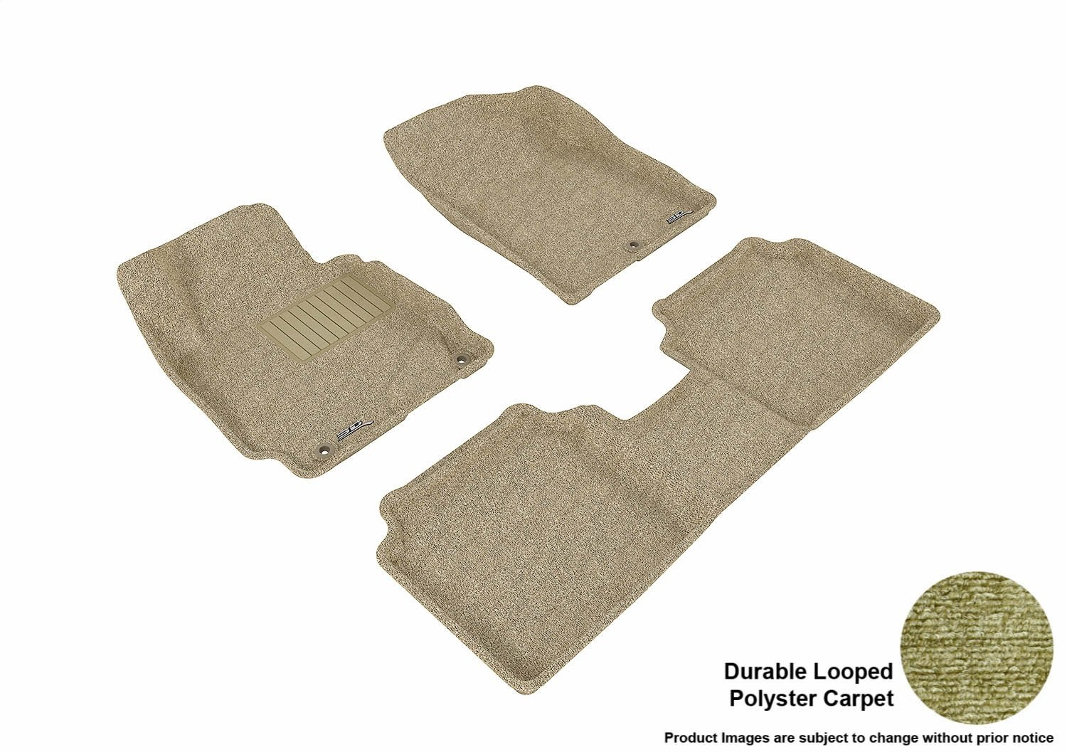 Tan Classic Carpet L1HY02102202 3D MAXpider Complete Set Custom Fit Floor Mat for Select Hyundai Elantra Models