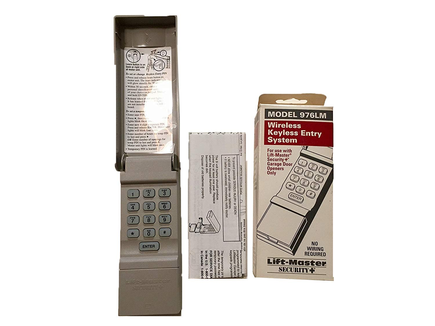 Liftmaster 976lm Garage Door Opener Keypad Remote Keyless Entry