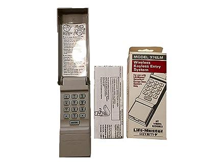 Liftmaster Garage Door Opener Programming >> Liftmaster 976lm Garage Door Opener Keypad Remote Keyless Entry