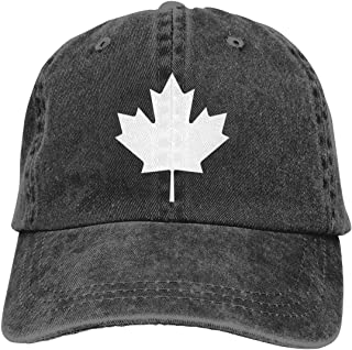 Waldeal Adult Unisex Canada Maple Leaf Vintage Cotton Denim Baseball Cap Dad Hat