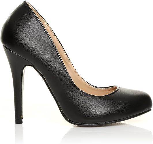 ShuWish UK Escarpin Chaussure Femme Simili Cuir PU Talon
