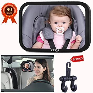 8f7dbedac10 Baby Car Mirror Rear View Facing Infant Car Seat - Baby Mirror for Car  Backseat Wide