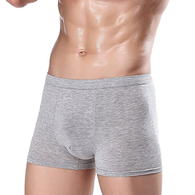 Zhuhaijq Color sólido Large Size Hombres Bóxers Sin Costura Bóxer para Hombre Ropa Interior