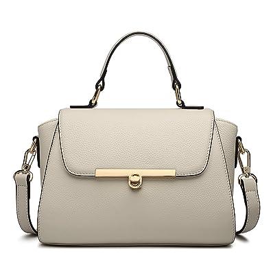 00a1ce3bb ZOOLER GLOBAL Genuine Leather Handbags for Women Crossbody Bags Large Purse  Ladies Shoulder Bag Beige
