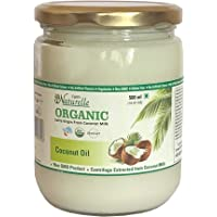 Farm Naturelle -100 % Pure Organic Extra-Virgin Cold Pressed Coconut Oil (Glass Bottle - 500 ml)