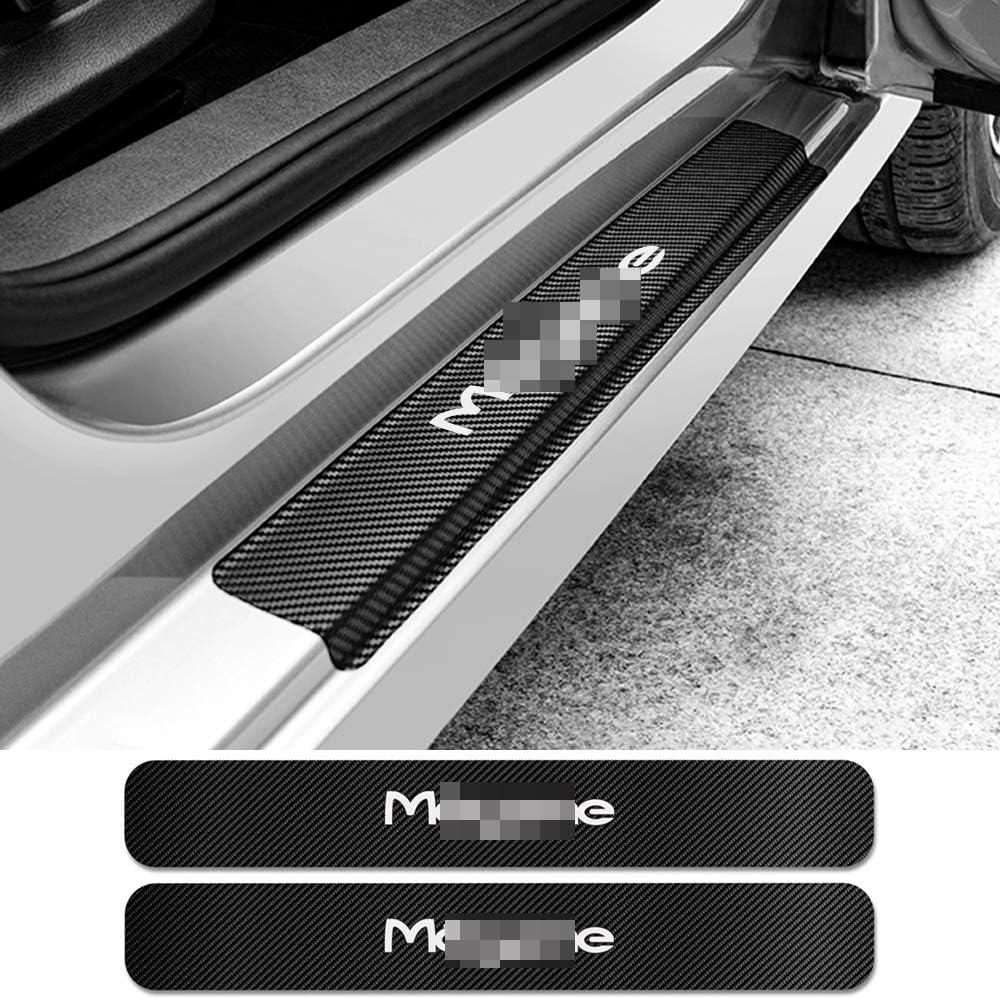 NsbsXs Adesivi soglia Auto per Renault Megane 2 3 Scenic 4 1 4PCS Adesivi per battitacco sottoporta per Auto Decalcomanie per Graffi Auto