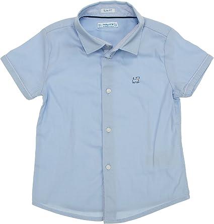 Mayoral 28-01154-029 - Camisa para bebé niño 12 Meses Celeste: Amazon.es: Ropa y accesorios