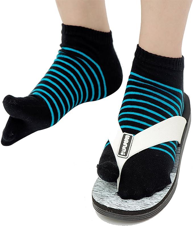 Flip Flop Tabi Socks - Ninja Athletic Stripes 3-Pairs