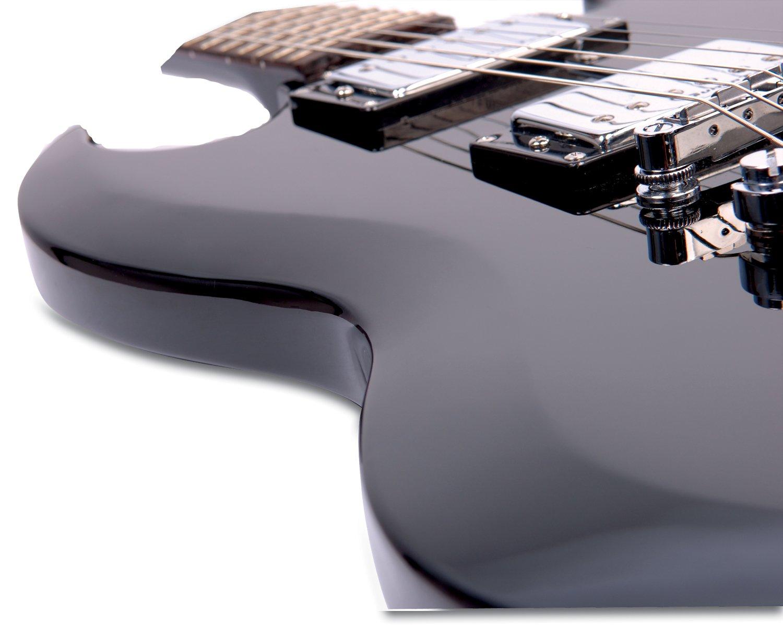 Encore E69 - Guitarra eléctrica, color negro brillante: Amazon.es: Instrumentos musicales