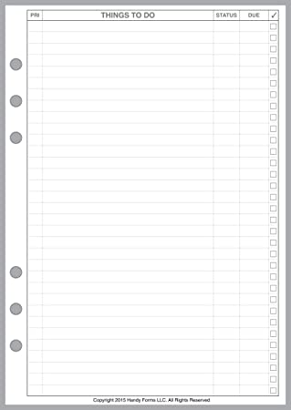 Amazon Com A5 Size To Do List Planner Pages Sized And Punched For