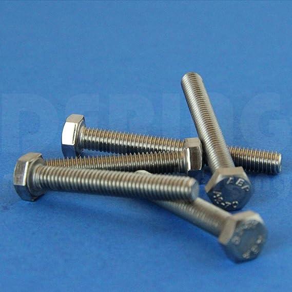 | Gewindeschrauben DERING Sechskantschrauben M6x16 DIN 933 Edelstahl A2 rostfrei Sechskant-Schrauben 10 St/ück