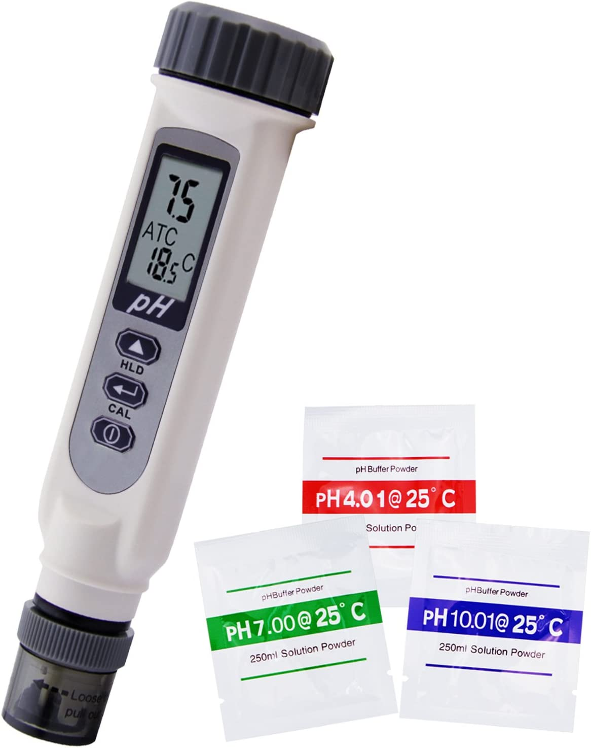 TEKCOPLUS Waterproof 0~14 Digital pH Meter with Temperature Measurement High Accuracy pH Pen Tests Water, Aquarium, Pool, Hydroponics