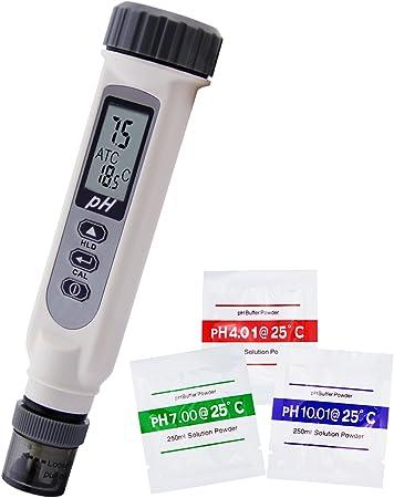 /±0.5/°C Temperature Sensor 0-14 pH Range Complete kit Pocket Tester /±0.1 pH Accuracy Apera Instruments PH20 Value pH Meter Waterproof