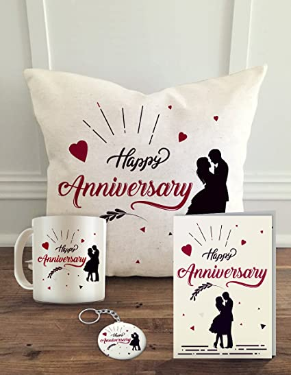 buy aldivo gift for happy anniversary combo pack 12 x 12 cushion