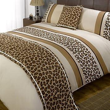 Leopard Printed Duvet Cover - Reversible Animal Print Bedding Bed ...