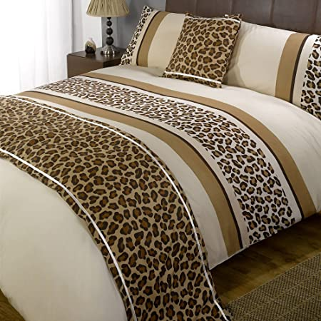 Just Contempo Leopard Printed Duvet Cover Reversible Animal Print
