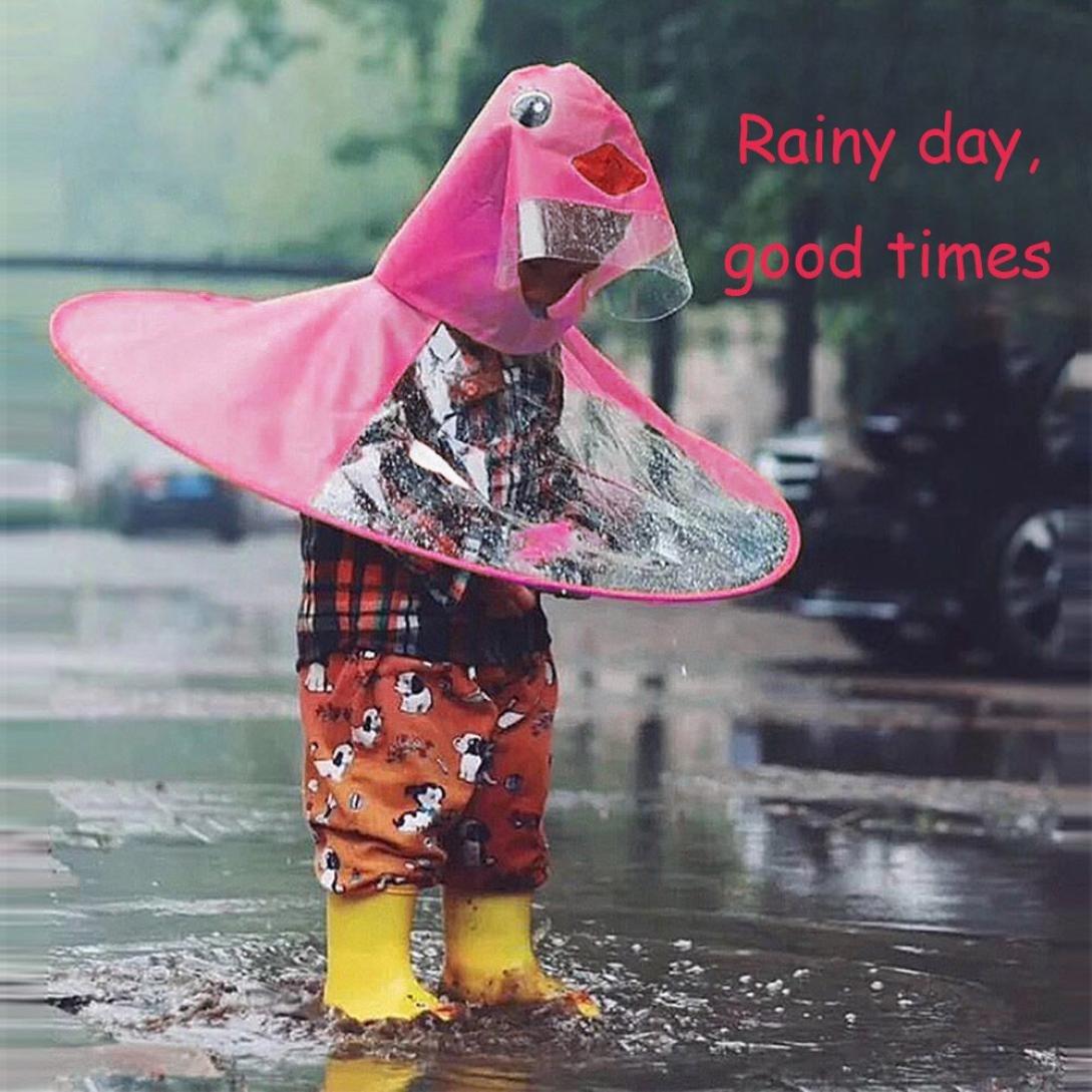 9691e652f022 Sujing Children Raincoat Poncho Head Umbrella Novelty Headwear Cap ...