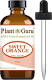 Sweet Orange Essential Oil 4 oz. 100% Pure Undiluted Therapeutic Grade Citrus Sinensis, Cold Pressed From Fresh Orange Peel, Great For Aromatherapy Diffuser, Relaxation and Calming, Natural Cleaner.