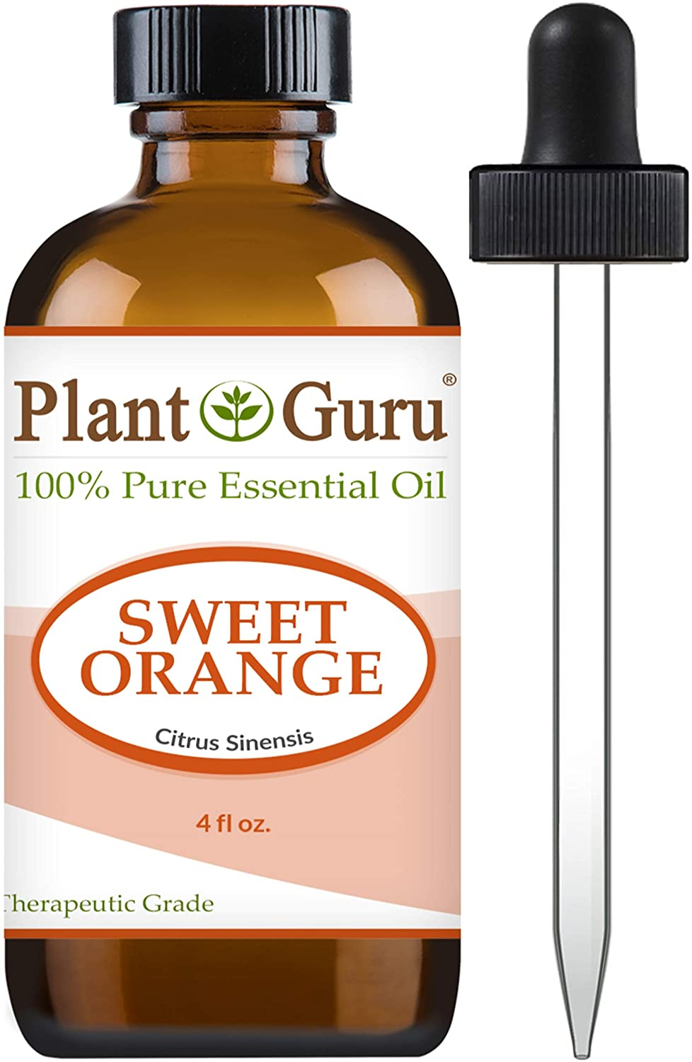 Sweet Orange Essential Oil HUGE 4 oz Therapeutic Grade 100% Pure & Natural With Glass Dropper by Plant Guru B00UZOZ5S8