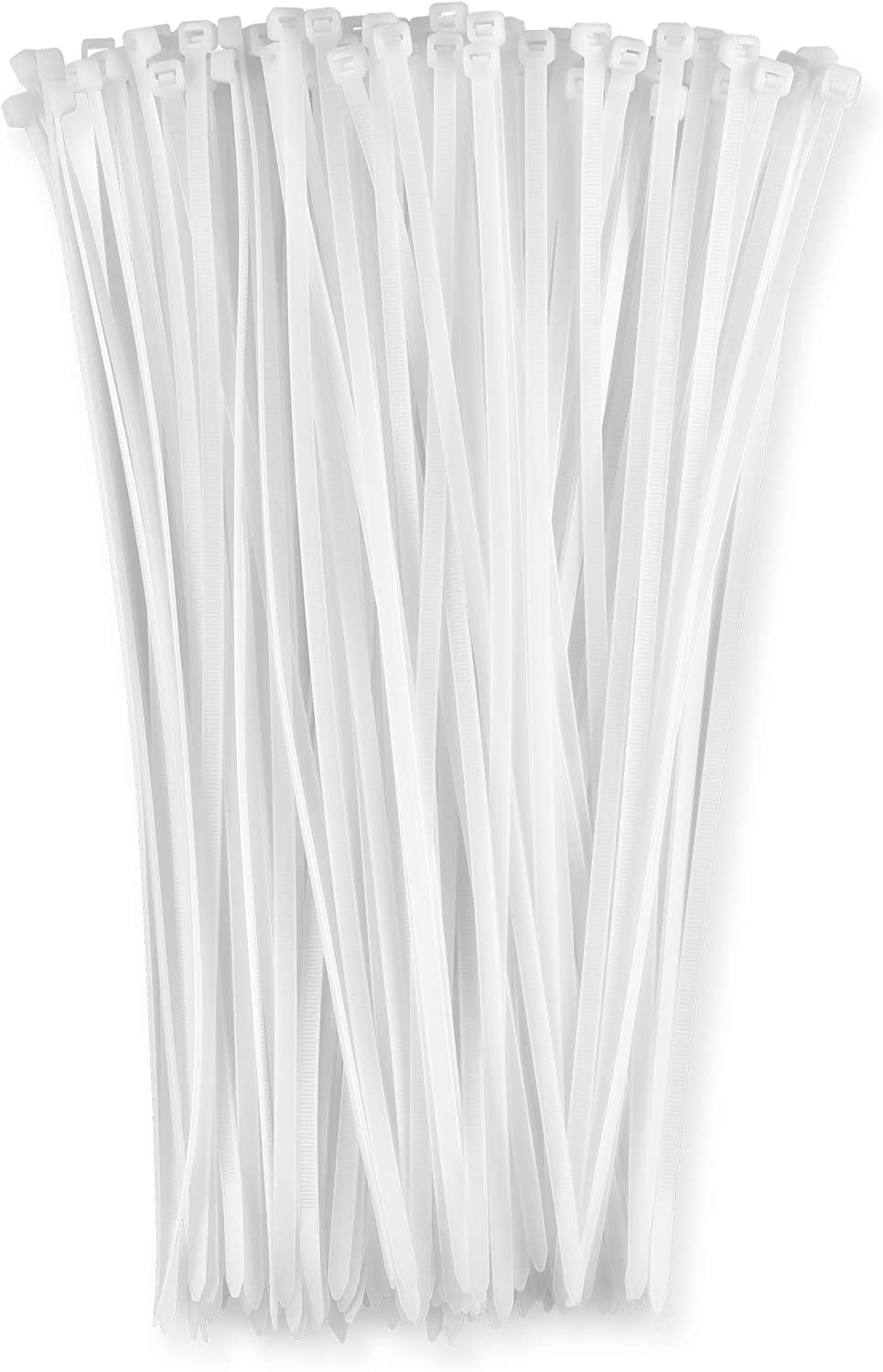 40lb Strength Nylon Cable Wire Ties 100 Pack 12 Inch Zip Ties Black By Bolt Dropper.