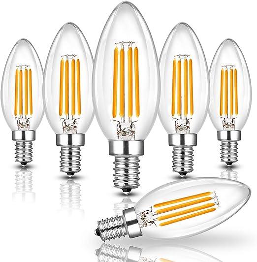 E14 LED Bougie 4w filament blanc chaud Ampoules