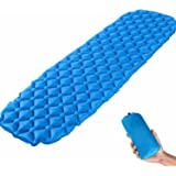 KYQ Ultralight Air Sleeping Pad - Inflatable Camping Mat,Ultra-Compact for Camping, Hiking, Backpacking and Traveling –Comfortable Air Support Cells Design