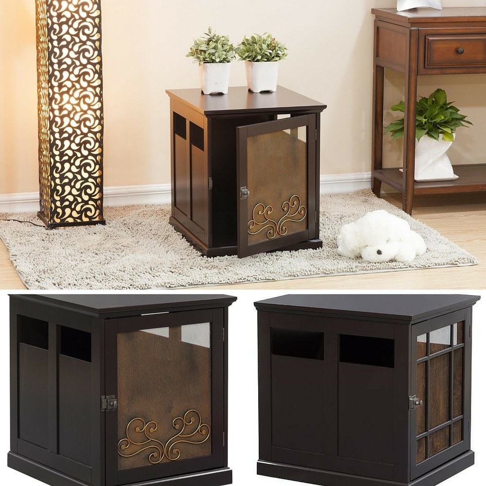 designer dog crate furniture ruffhaus luxury wooden. Amazon.com : Decorative Dog Crate, Crate Furniture, Wooden End Table, Luxury Pet Furniture \u0026 EBOOK AWESOME HOME DECOR IDEAS. Designer Ruffhaus E