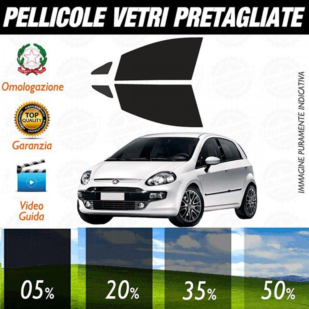 05/% Fiat Grande Punto 5P dal 2006 ad OGGI Pellicole Oscuramento Vetri Anteriori Auto Pre Tagliate a Misura