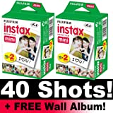 Instax Mini Film Bundle Pack (40 Shots) + Free Wall Album