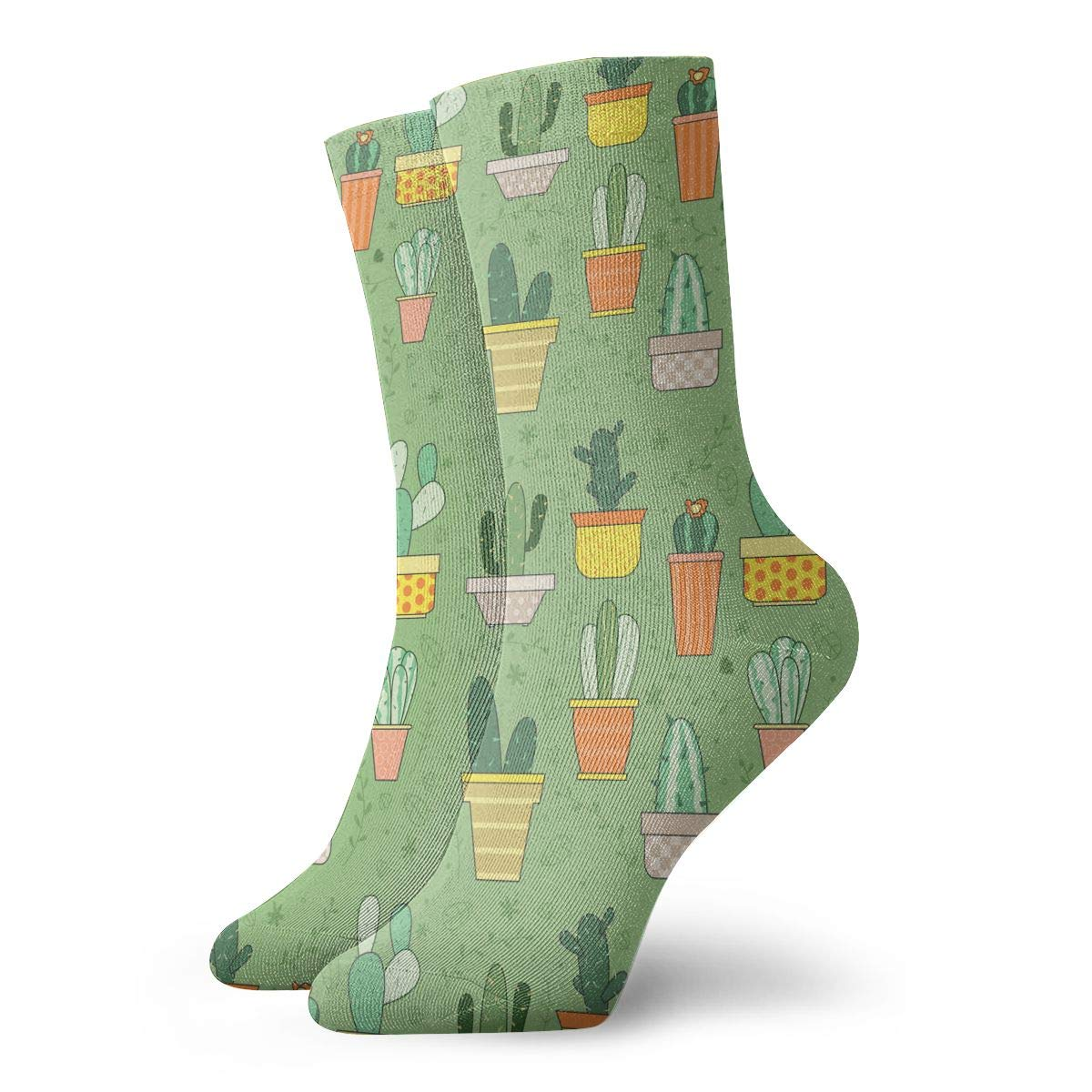 Unisex Cactus Plants Set Athletic Quarter Ankle Print Breathable Hiking Running Socks