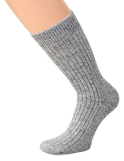 NORUEGO Calcetines Calcetines de sin goma Invierno Calcetines calientes de lana calcetines con suela de felpa, Gris, 1 par: Amazon.es: Ropa y accesorios